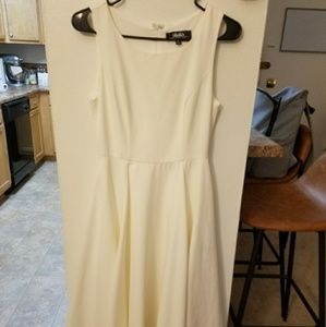 NWOT Lulu's white fit and flare dress